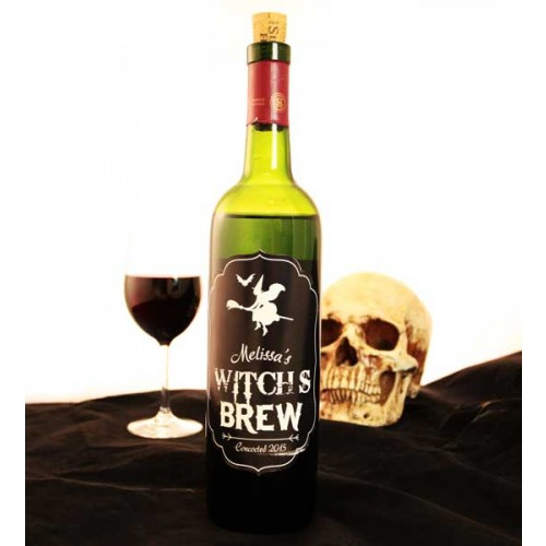 Add Your Name Halloween Themed Wine Label - Witch\u0027s Brew