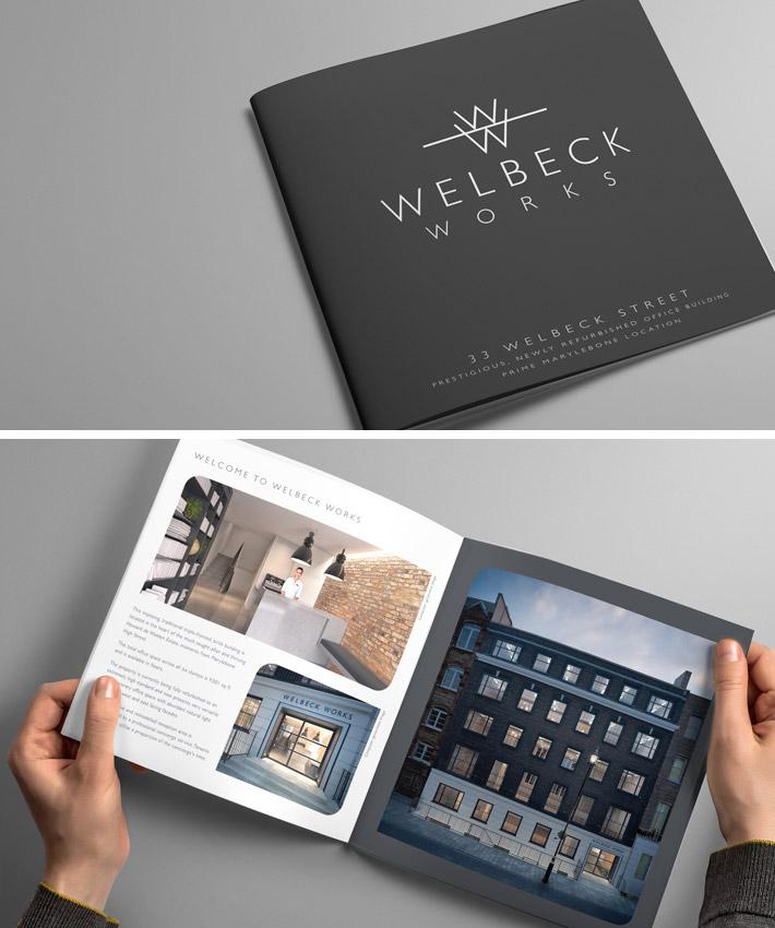 Welbeck Works Property Branding Brochure LOGO Design