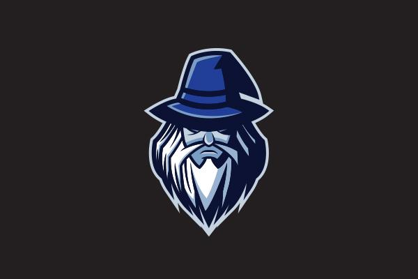 Dark Wizard Mascot Logo