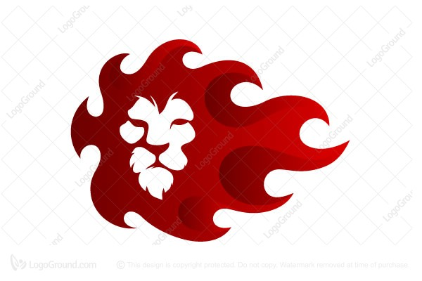 Flame Lion Logo - flame logo