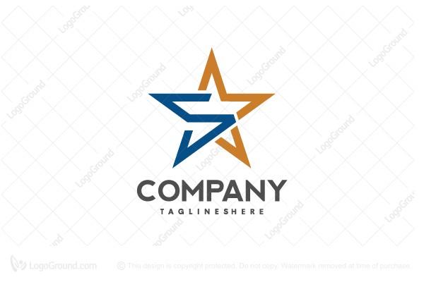 Letter S Star Logo