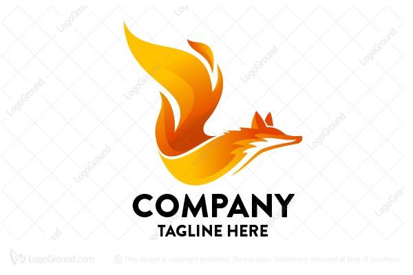 Fox Flame Logo - flame logo