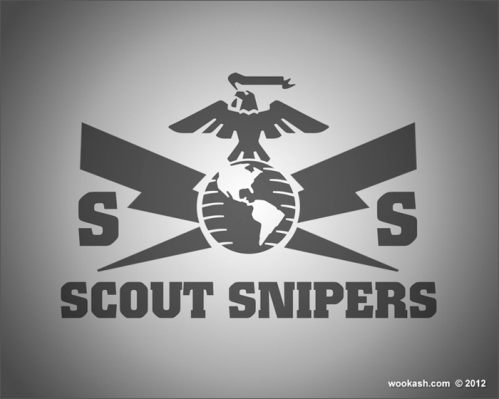 Marine scout sniper Logos