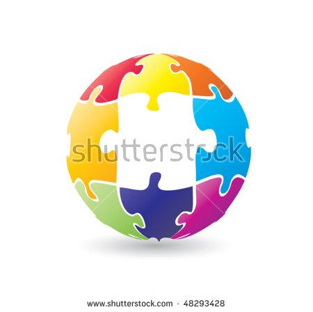 Puzzle globe Logos