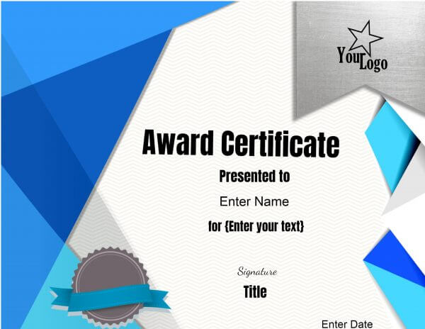 Online certificate maker with Logos