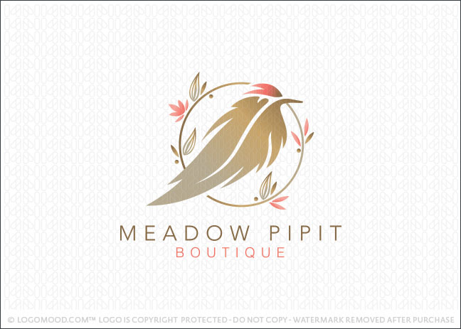 Readymade Logos for Sale Meadow Pipit Boutique Readymade Logos for