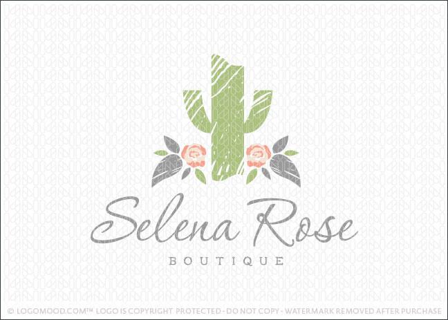 Readymade Logos for Sale Selena Rose Cactus Readymade Logos for Sale