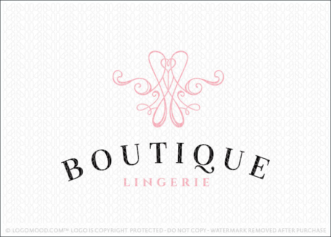 Readymade Logos for Sale Boutique Lingerie Readymade Logos for Sale