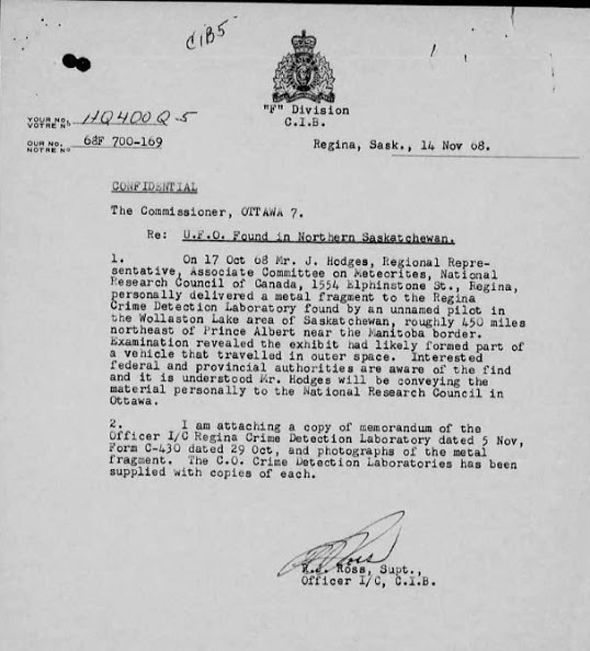 UFO Document Canadian Government
