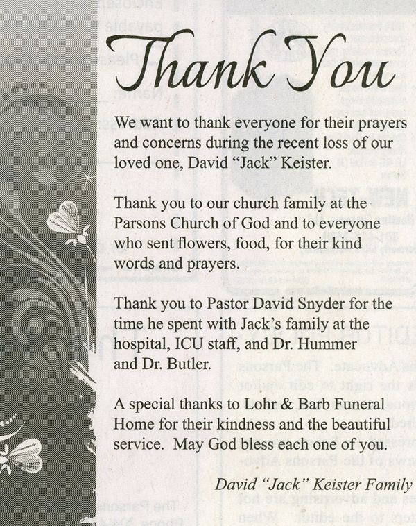 Lohr  Barb Funeral Home  Cremation Services Elkins  Parsons, WV
