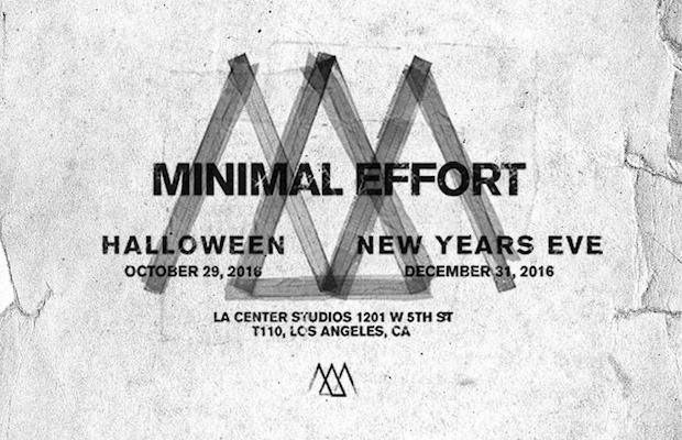 Minimal Effort hosts their first outdoor festivals this Halloween and New Year's Eve.