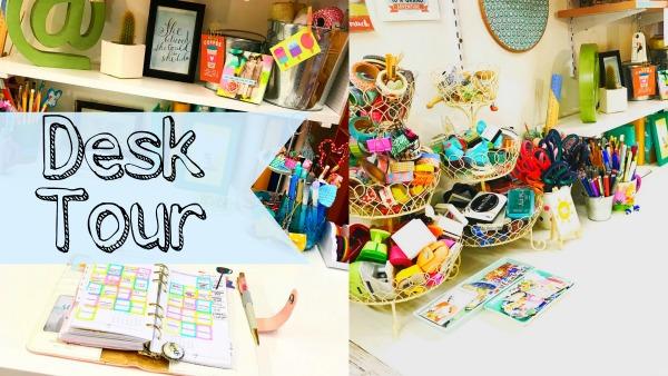 My Planner Desk  Scrapbooking Space Tour - with video - Lollipop