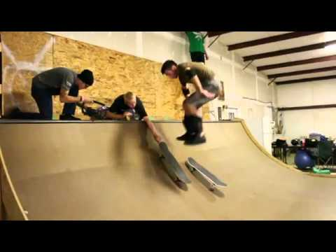 Amazing Skate-Board Trick: Switching Decks With A Salto