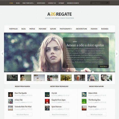 Tema WordPress Aggregate