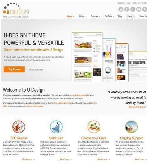 U-Design - Mejores plantillas de WordPress