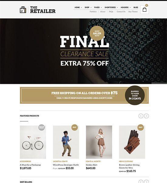 The Retailer - Tema WordPress para tiendas online
