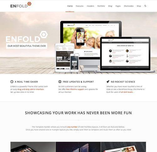 Enfold Tema de WordPress adaptado a dispositivos móviles