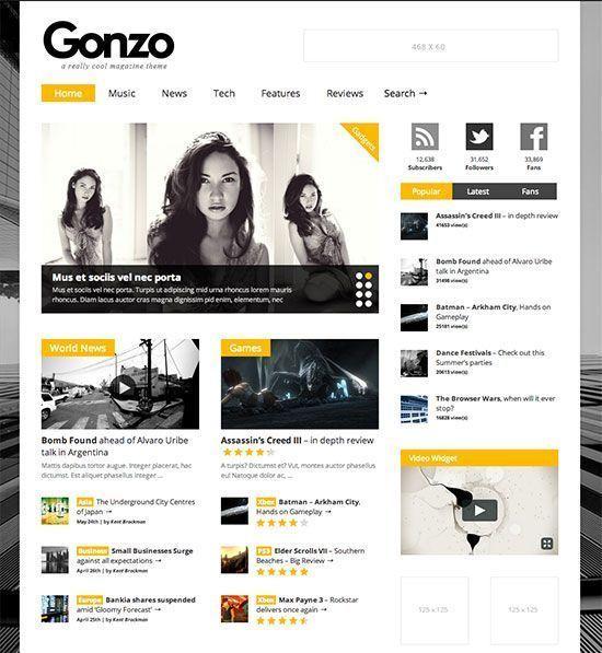 Gonzo - Plantilla WordPress Revistas y Periódicos