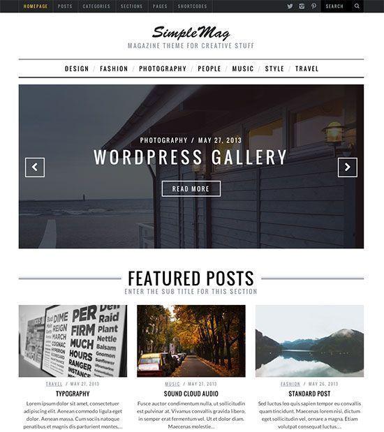 Simplemag tema WordPress para periodicos