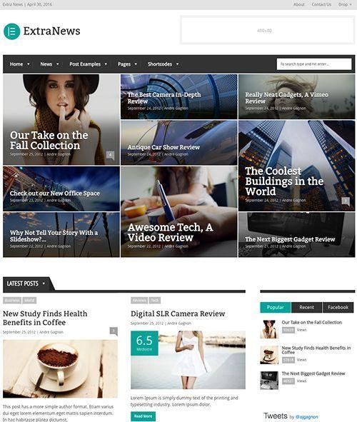 ExtraNews - Plantilla WordPress revistas y periódicos