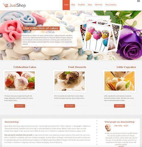JustShop - Tema WordPress pastelería