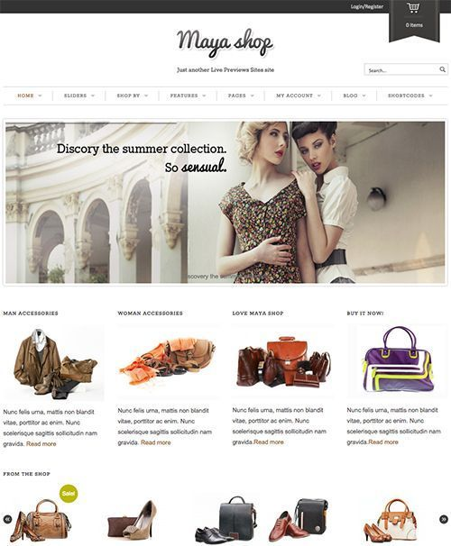 MayaShop - Temas WordPress Tienda online