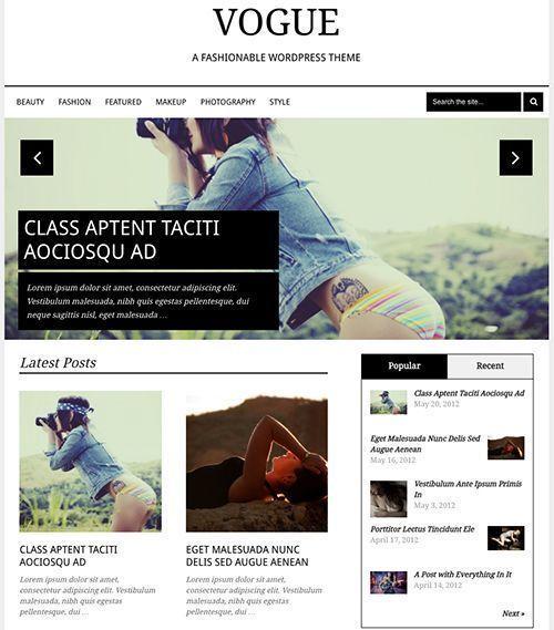 Vogue - Tema WordPress revistas