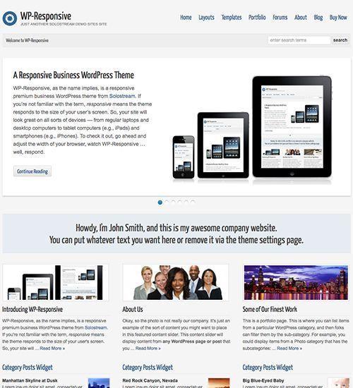 WP Responsive - Tema WordPress Empresas