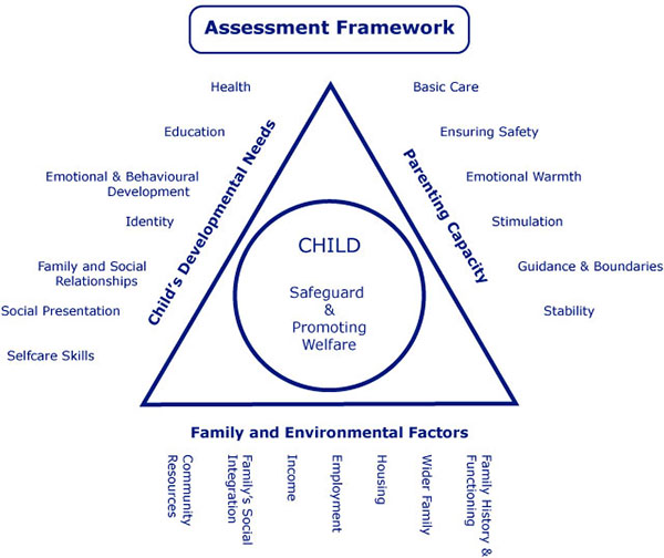 Appendix 4 Triangle chart for the Assessment of Children in Need