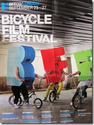 Bicycle film festival poster I picked up at the London Skyride