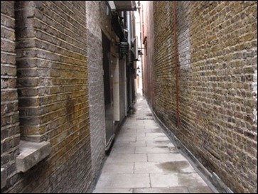 A rather narrow London street