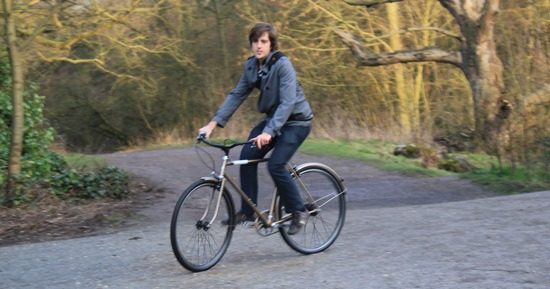 London Cyclist himself riding the creme caferacer