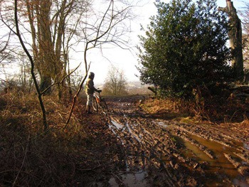 A mountain biking trip to epping forest is a guarantee things will get muddy