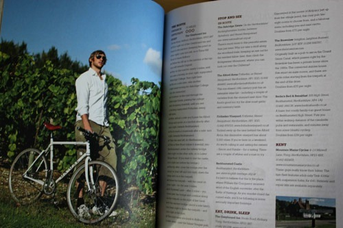 Inside the Escape Routes book with a picture of the author and directions