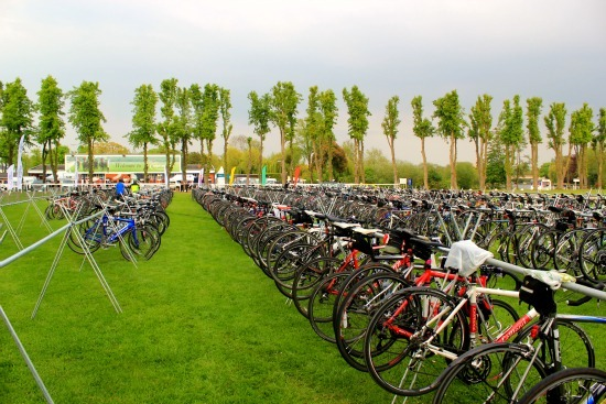 Bikes stationed at a Sportive event