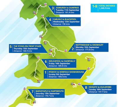 Tour of Britain stages