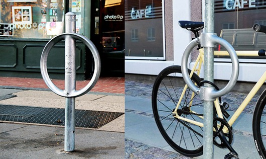 NYC rack and Cyclehoop light