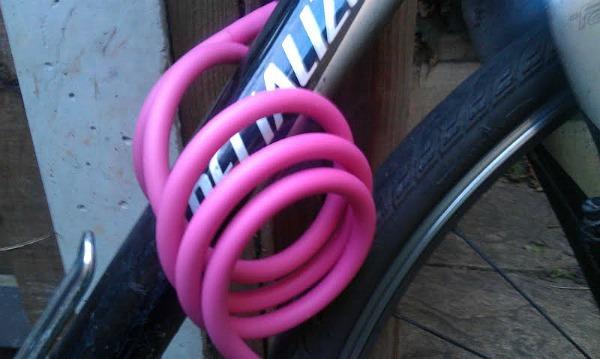 Knog Party Coil lock around bike