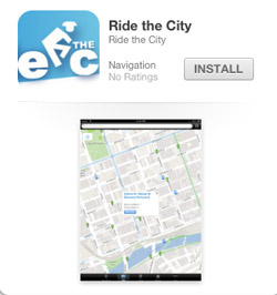 Ride the City iPad app for bikes