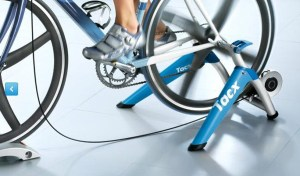 A turbo trainer allows you to ride indoors