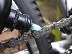 Lube chain to finish