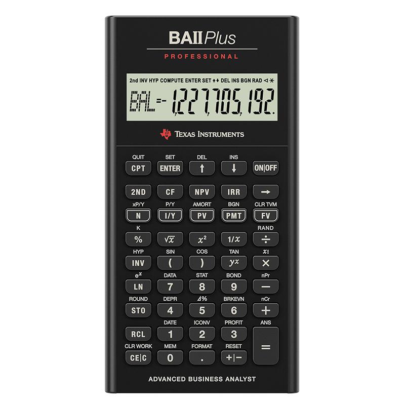Texas Instruments Financial Calculator - BAII+PRO London Drugs