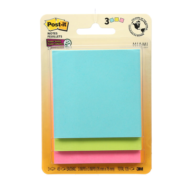 3M Post-it Super Sticky Notes - 3 pads London Drugs - stickey notes
