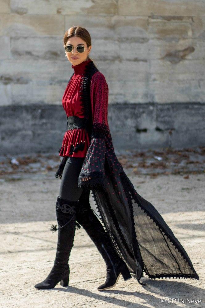 Elie Saab Street Style Paris Fashion Week