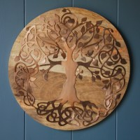 Wood Mounted Copper Tree of Life Wall Art | Sculpture and ...