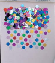 Multi Dazzle Dots Table Confetti