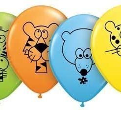 "10 Jungle Animals Helium Filled 11""latex Party Party Balloons"