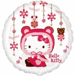 "Hello kitty winter kitty standard 18"" Helium filled Foil Balloon delivered in London"