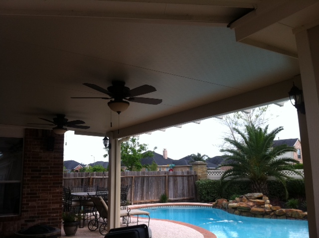 Patio Cover With Ceiling Fans Lone Star Patio Builders