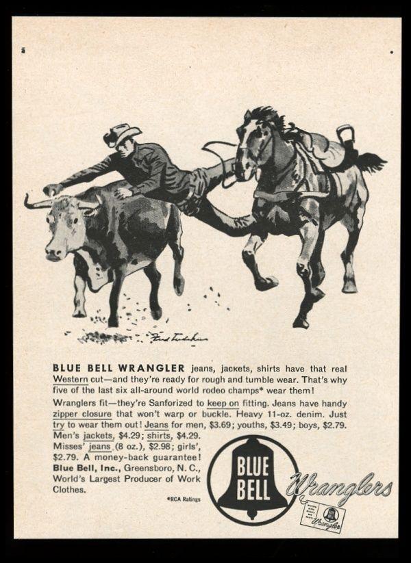 French Fall Wallpaper Old Wrangler Blue Bell Denim Advertising Long John